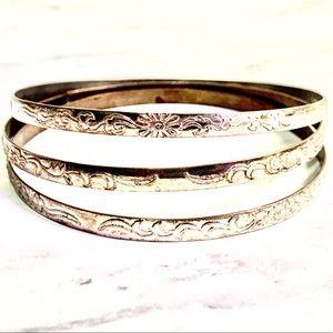 Vintage bangle bracelet set